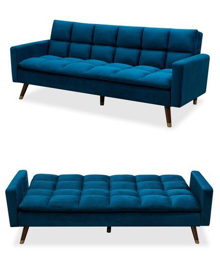 Диван-кровать от производителя Felicity Цвет темно-синий/орех
