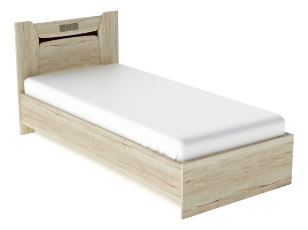 Кровать односпальная от производителя СБК Мале Цвет дуб галифакс белый