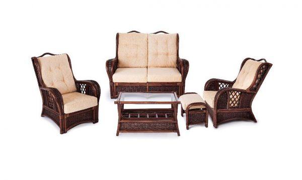 Набор уличной мебели из ротанга от производителя Экодизайн Marina SMK Цвет коричневый