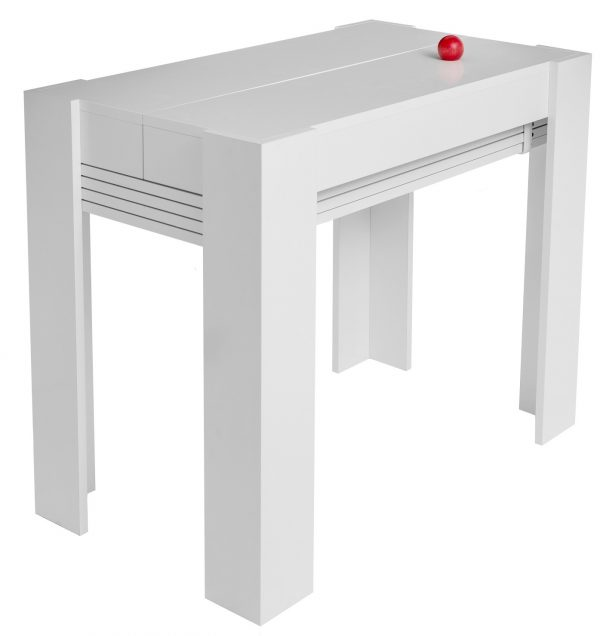 Стол обеденный трансформер от производителя Barel XL Цвет белый глянец