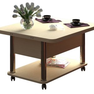 Раскладной стол-трансформер от производителя Форвард Дебют 3 Цвет венге светлый