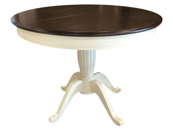 Стол обеденный от производителя Аврора мебель Леонардо Цвет орех темный, слоновая кость