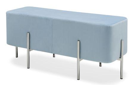 Банкетка большая от производителя Gatsby Цвет голубой/серебро