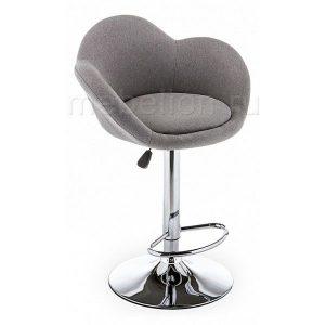Кресло барное мягкое от производителя Woodville Cotton Цвет серый