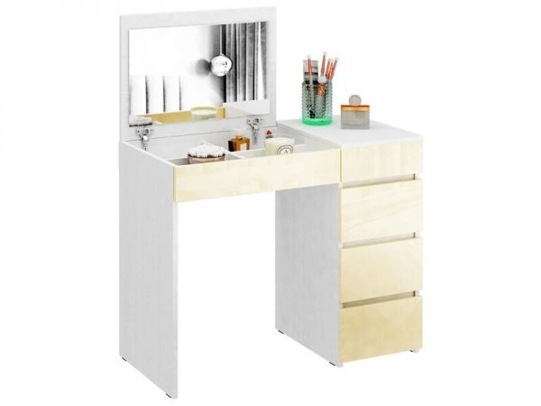 Стол туалетный от производителя МФ Мастер Триверо-1 Цвет дуб молочный, бежевый