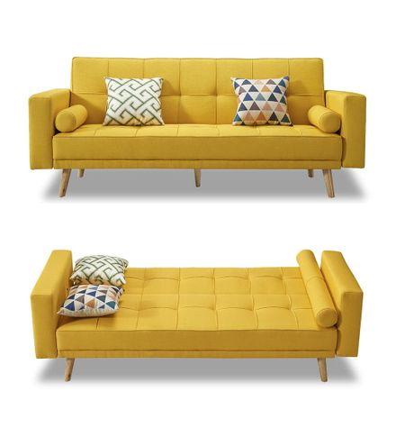 Диван-кровать от производителя Scandinavia Цвет желтый