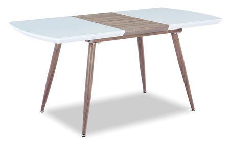 Стол раскладной от производителя Fredric 120-160 Цвет белый,дуб