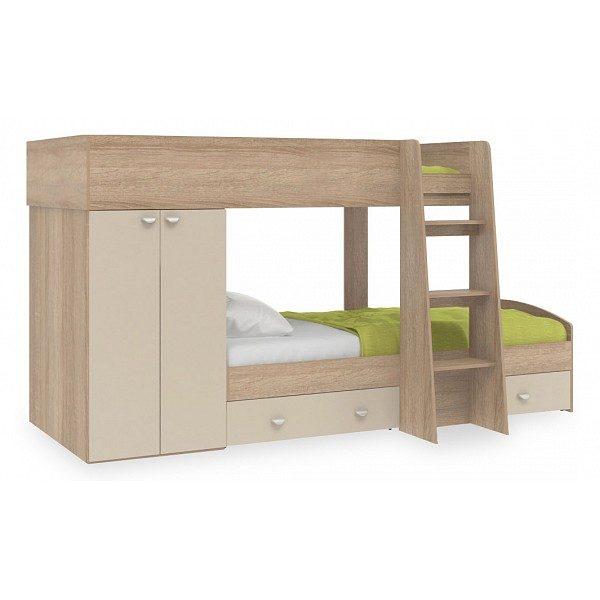 Детская двухъярусная кровать от производителя Golden Kids 2 Цвет белый, дуб сонома