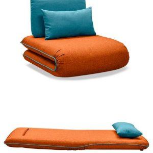Кресло-кровать от производителя Justin-1 Цвет оранжевый/бирюзовый