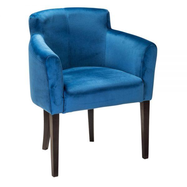 Кресло мягкое от производителя Ресторация Камилла Цвет орех, синий