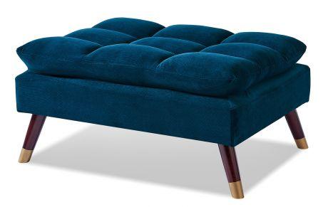 Оттоманка от производителя Lucia Цвет темно-синий/натуральный