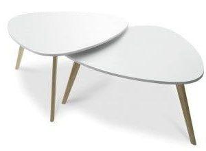 Набор из 2-х столов от производителя Duo Цвет белый/дуб
