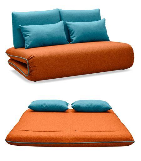 Диван-кровать от производителя Justin-2 Цвет оранжевый/бирюзовый