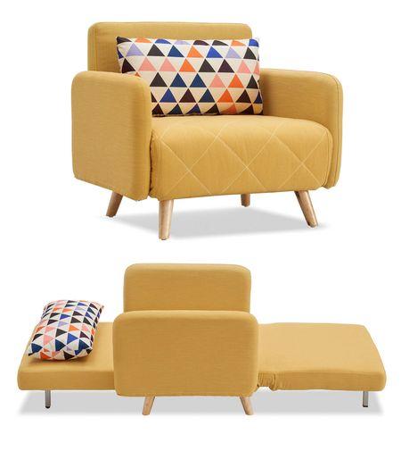 Кресло-кровать от производителя Cardiff Цвет желтый