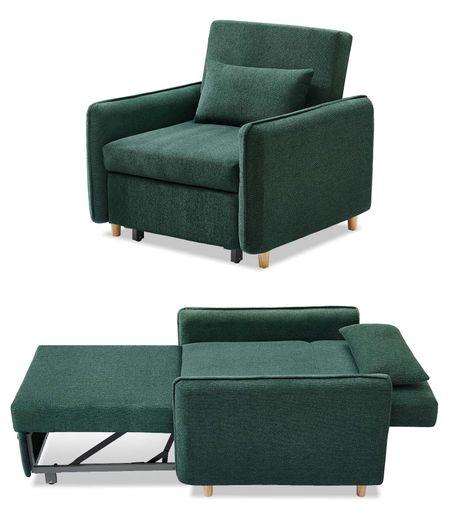 Кресло-кровать от производителя Arizona Цвет темно-зеленый