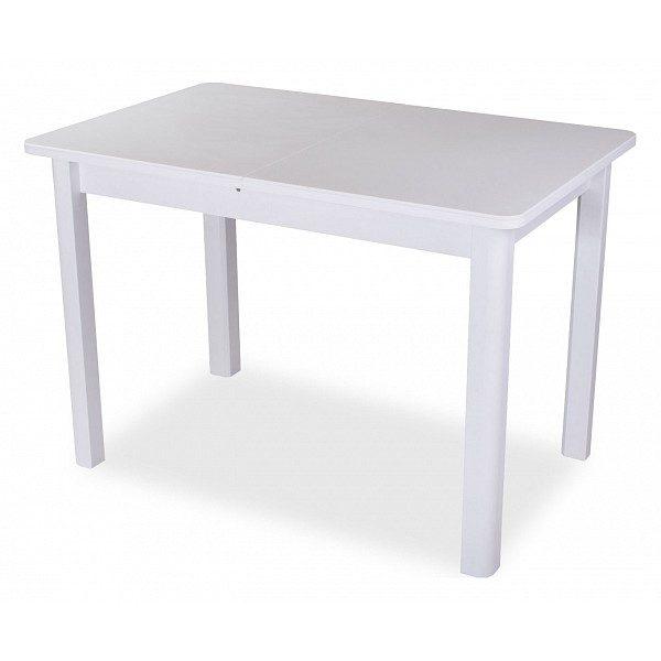 Стол обеденный раскладной с камнем от производителя Домотека Румба ПР-1 Цвет белый
