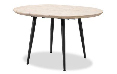Стол раскладной от производителя Leticia 100-130 Цвет дуб, черный