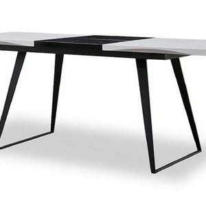 Стол раскладной от производителя Vermont Цвет черный, белый