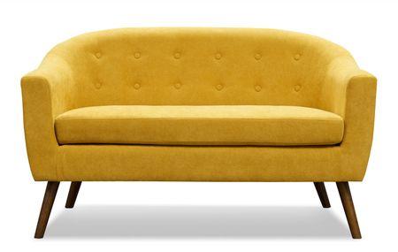 Диван 2-х местный от производителя Florence Цвет желтый шафран/орех