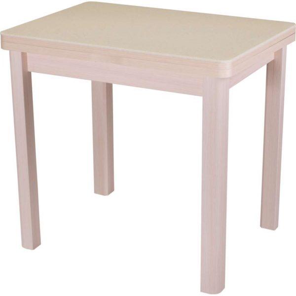 Стол обеденный раскладной с камнем от производителя Домотека Реал М-2 Цвет бежевый, молочный дуб