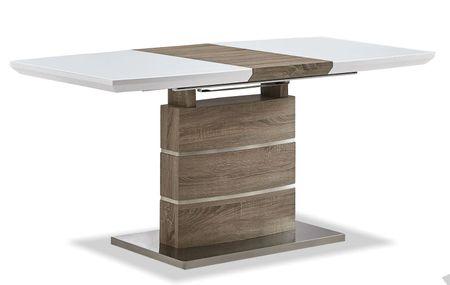 Стол раскладной от производителя Arioso Glass (120) Цвет белый, дуб