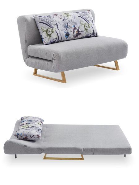 Диван-кровать 2-х местный от производителя Rosy Цвет серый/цветочный принт