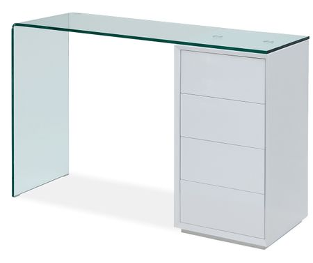 Стол письменный (консоль) от производителя Concord Цвет белый