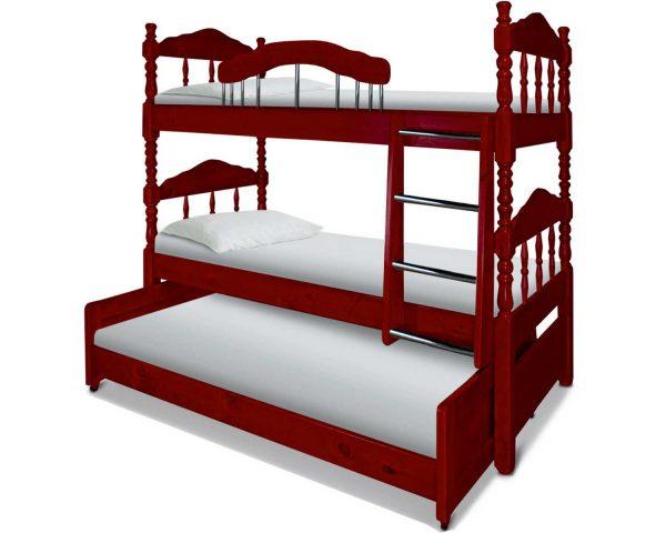 Кровать трехъярусная от производителя Шале Альбион Цвет клен