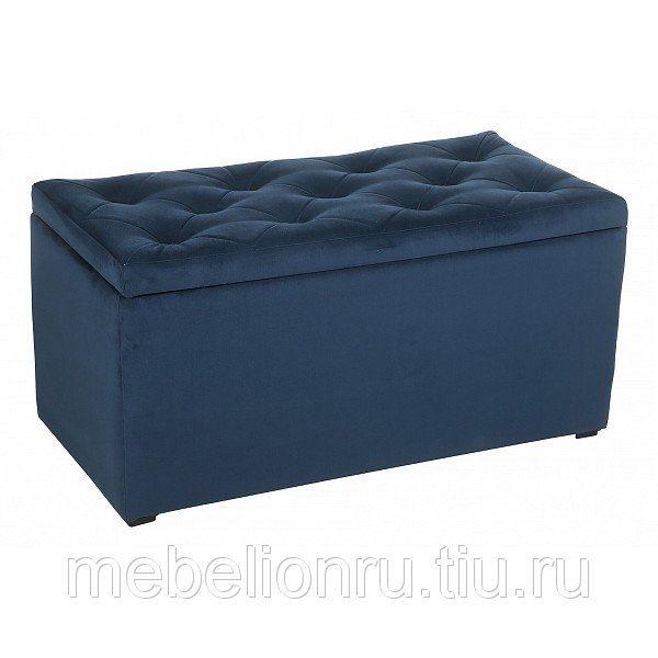 Банкетка-сундук в прихожую от производителя Мебельстория Тони-3Т Цвет синий