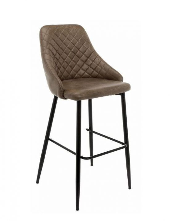 Барный стул мягкий от производителя Rumba Цвет серый