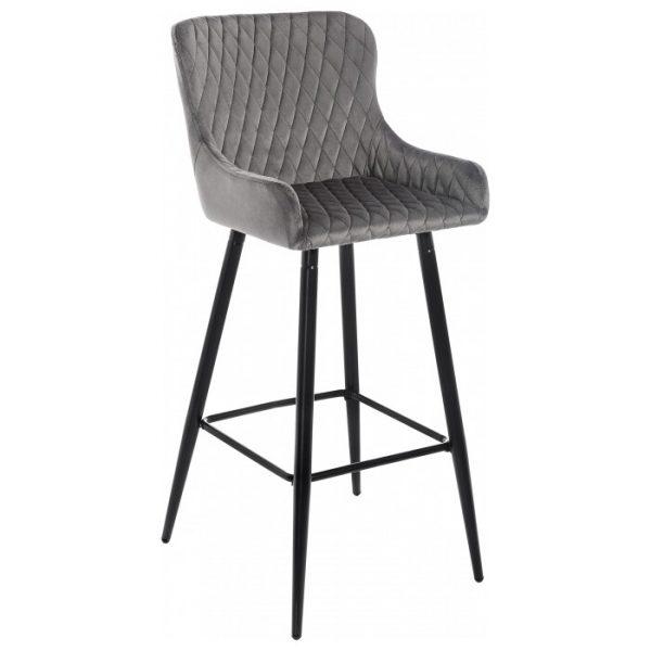 Барный стул мягкий от производителя Woodville Mint Цвет серый