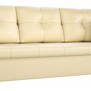 Диван-кровать от производителя Мебелико из экокожи Валенсия Цвет бежевый
