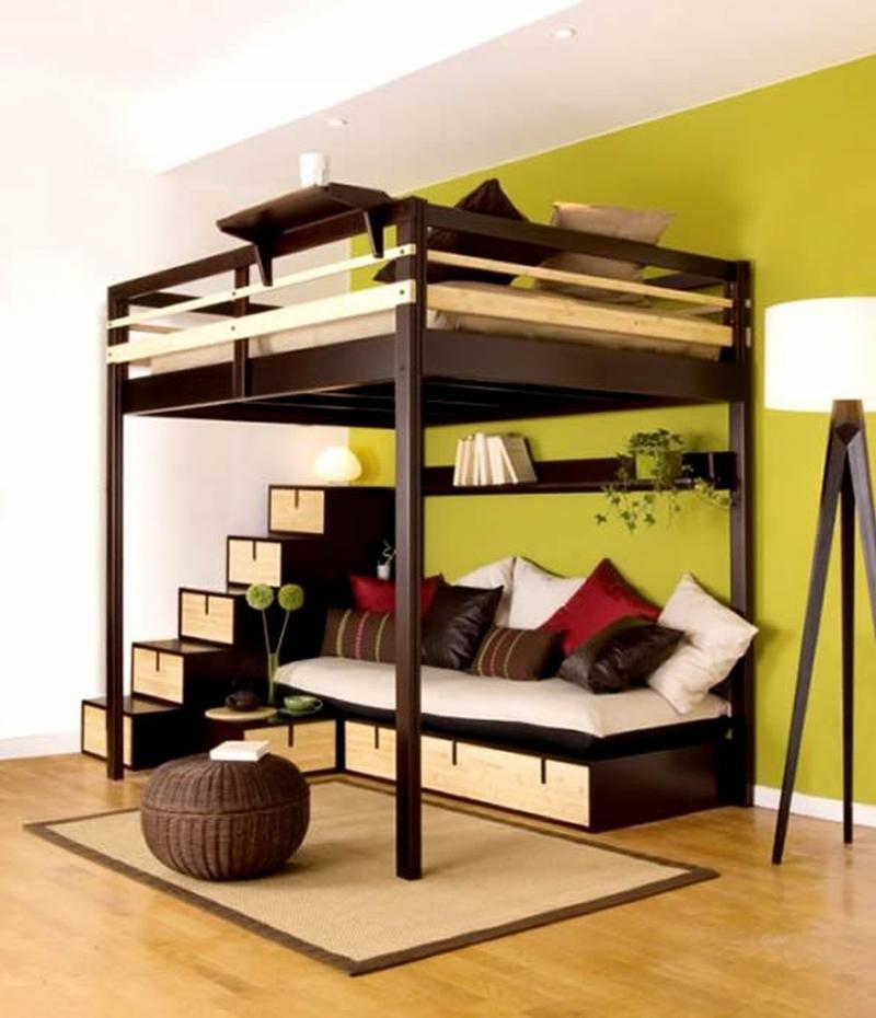Двухэтажная кровать, как правильно использовать идею