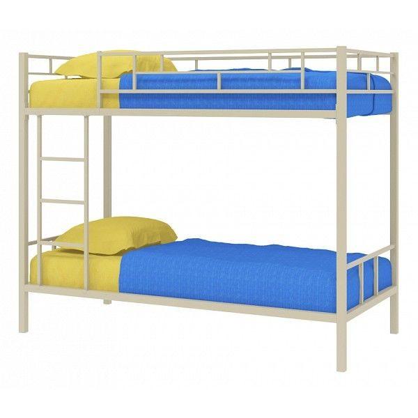 Двухъярусная кровать от производителя МФ 4 Сезона Ницца Цвет молочный дуб
