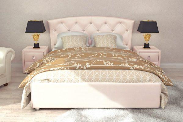 Двуспальная кровать Диана 160 x 200 цвет Розовый