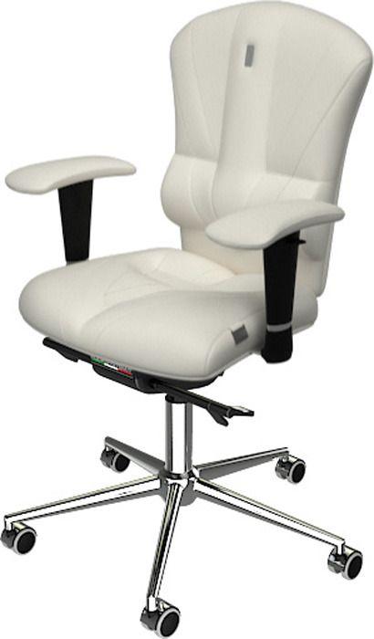 Компьютерное кресло из экокожи Kulik System Victory Цвет белый