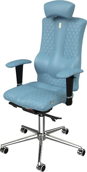 Компьютерное кресло ортопедическое Kulik System Elegance Design Цвет светло-синий