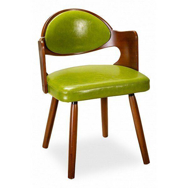 Кресло из искусственной кожи от производителя Ресторация Twist Цвет зеленый