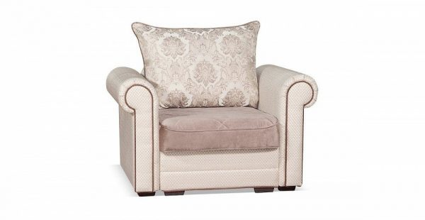 Кресло-кровать на металлокаркасе Гамбург NEXT цвет Серебро