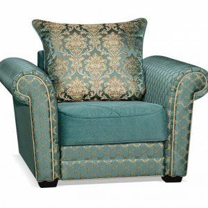 Кресло-кровать на металлокаркасе Гамбург NEXT цвет Сине-зеленый