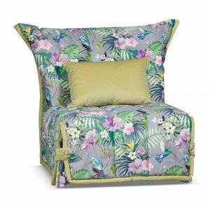 Кресло-кровать со съемным чехлом Гейша цвет Серый