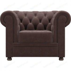 Кресло мягкое от производителя WoodCraft Честер Цвет шоколадный