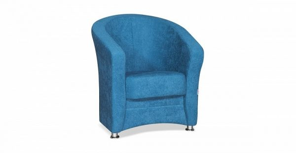 Кресло универсальное с интересной текстурой ткани Андорра цвет Синий
