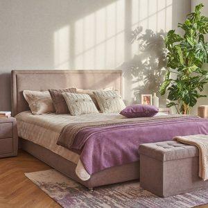 Кровать двуспальная 140 x 200 Палермо Песочно-серый