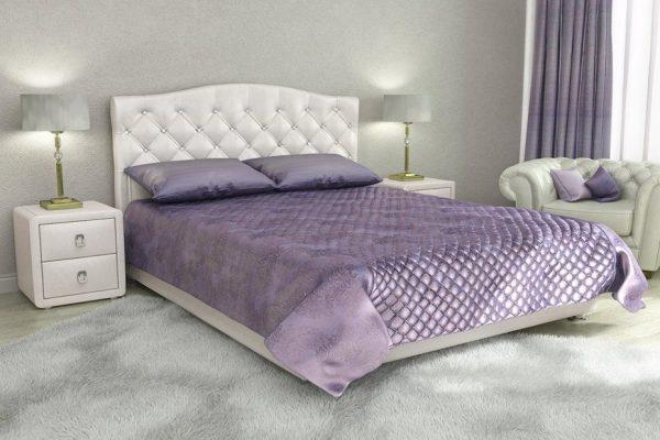 Кровать двуспальная 160 x 200 Елизавета Перламутровый