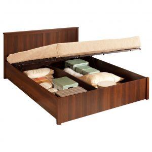 Кровать полутораспальная от производителя Глазов-Мебель Шерлок 43.2 Цвет орех шоколадный
