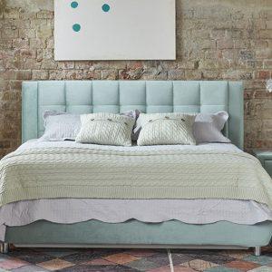 Кровать с вместительным бельевым коробом Барроу 140 x 200 цвет Мятный