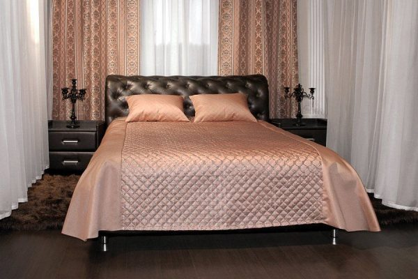 Кровать в стиле роскошной классики Брисбен 140 x 200 цвет Коричневый