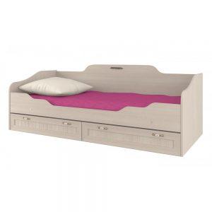 Детская кровать от производителя Интеди Соната 5 ИД 01.95 Цвет дуб млечный