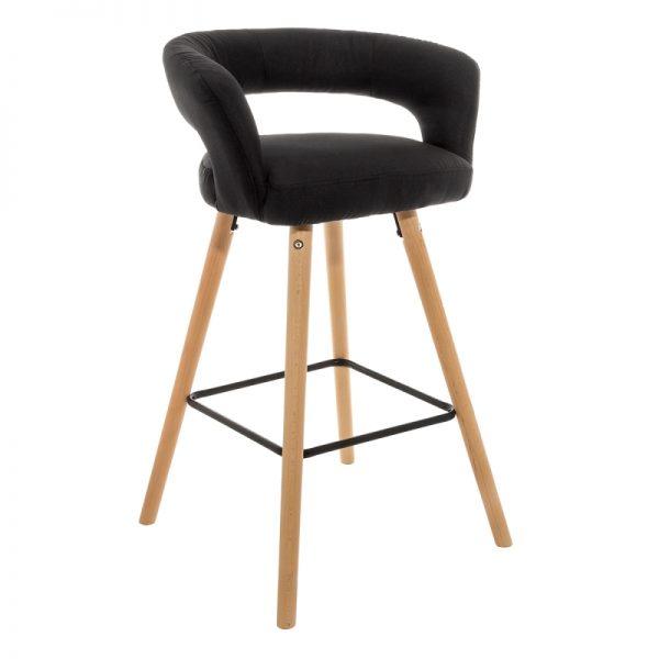 Барный стул от производителя Woodville Mars Цвет черный